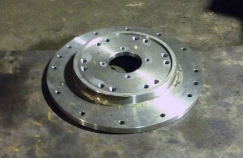 Pump adapter manufactured by Collie Machine Shop