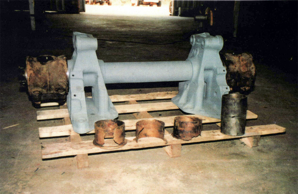 Component parts were not available for this A.E.C. truck trunnion axle. Trunnion axle was brought back to new condition allowing more serviceable years for the owners