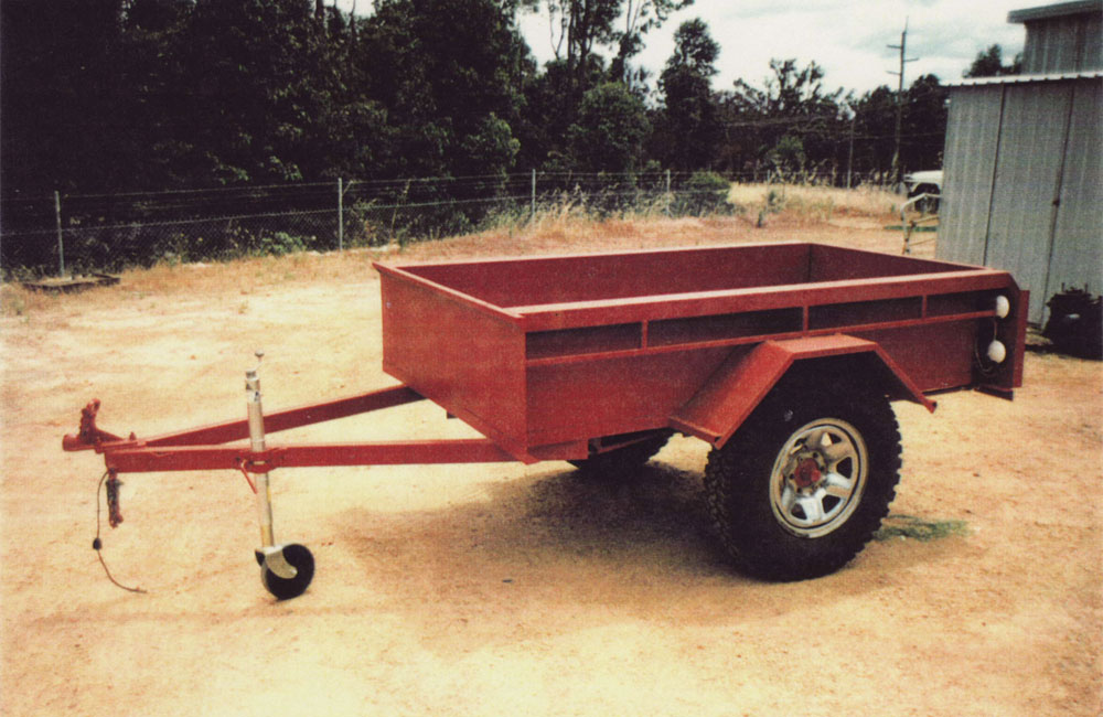 Collie Machine Shop received a request for an off road trailer this was made and assembled to clients specifications